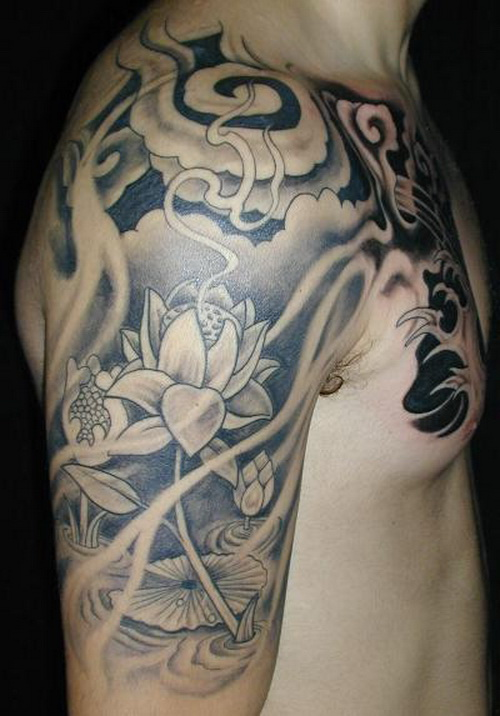 20 Black And Grey Half Sleeve Japanese Tattoos For Men Ideas And