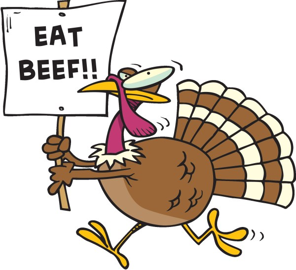 eat beef funny turkey clipart