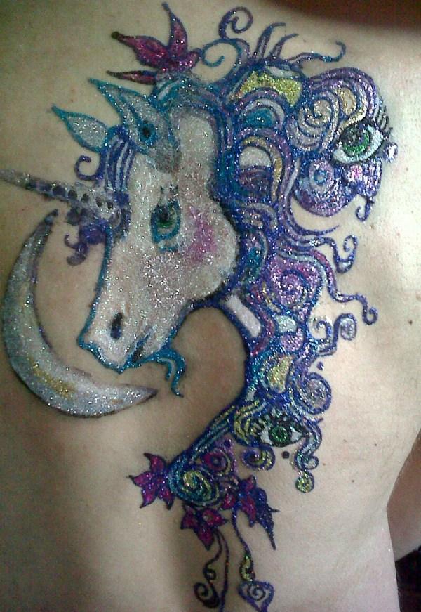 cool glitter tattoos