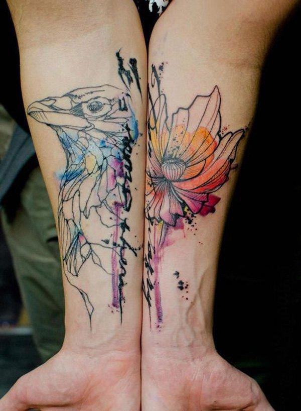 45 Flowers Wrist Tattoos