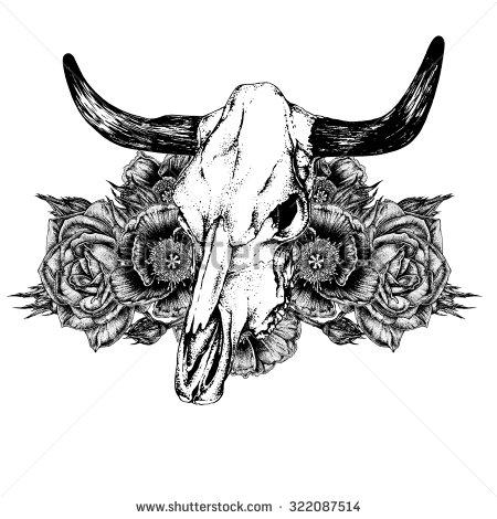 18 Cow Skull Tattoo Designs