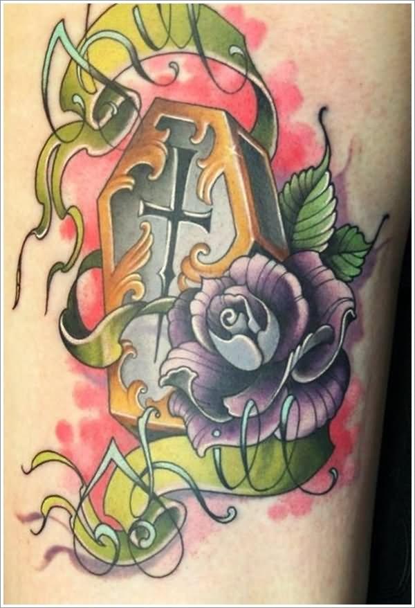 Zombie School Tattoo Coffin New