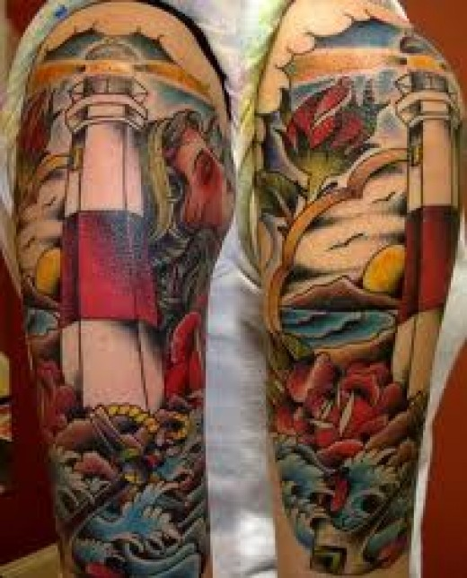Rose Flash Sleeve Traditional Neo