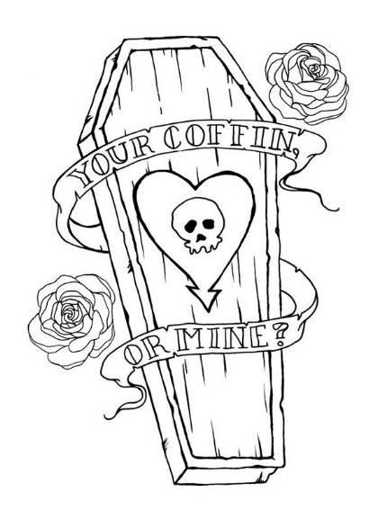 35 Incredible Coffin Tattoos Designs