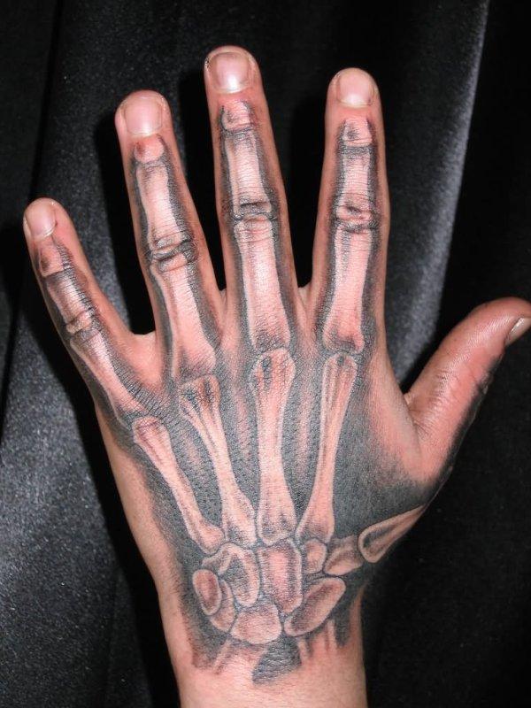 amazing hand bone tattoos