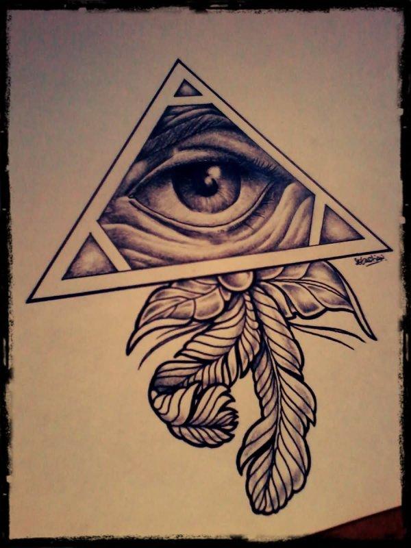 All Seeing Eye Tattoo Drawing Designs
