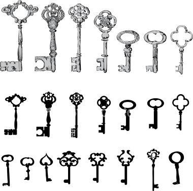 6 Simple Key Tattoo Designs