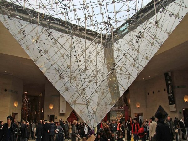 Glass Pyramid Louvre Paris Interior