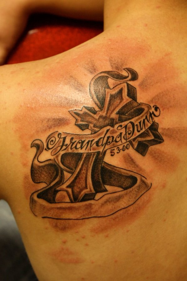 memorial cross tattoos ideas
