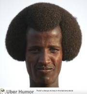 black man with weird hairstyle