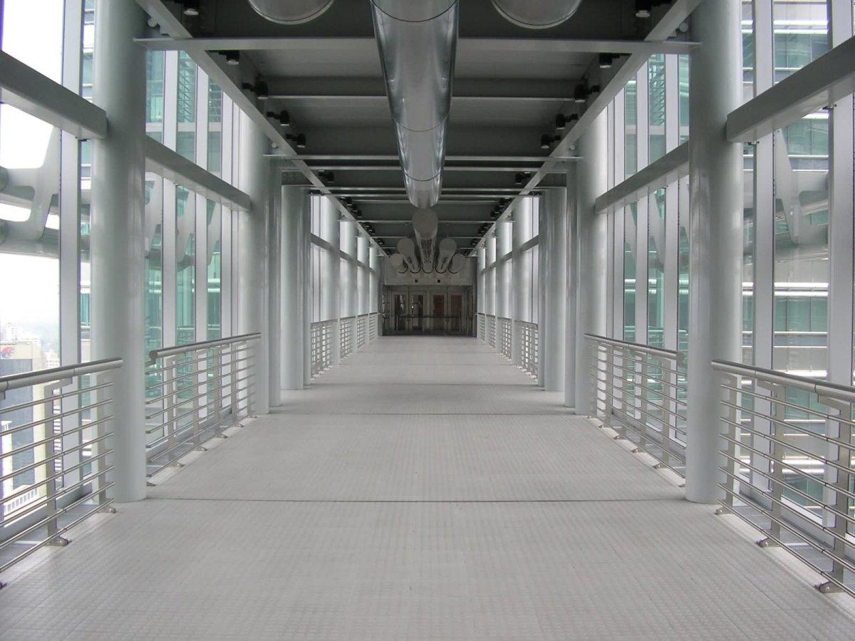 Inside View Of Skybridge In Petronas Towers