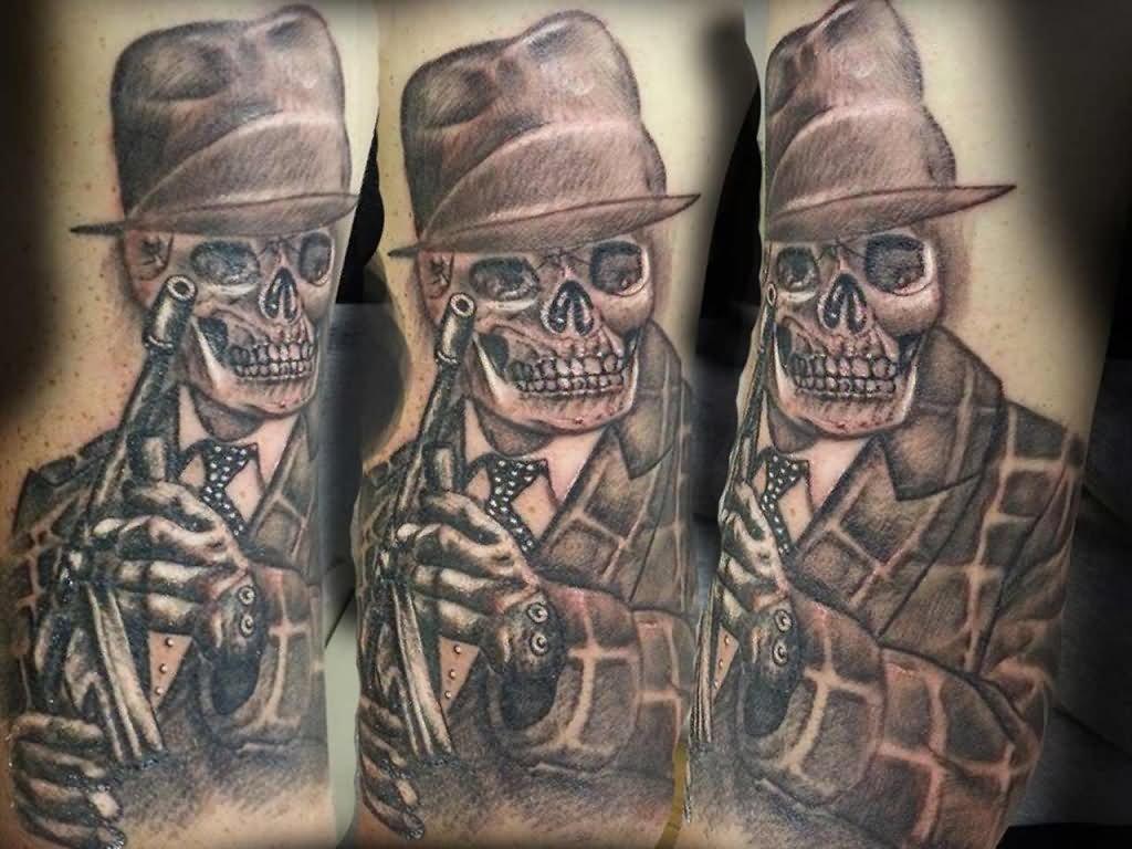 Gangster Gun Tattoo Designs