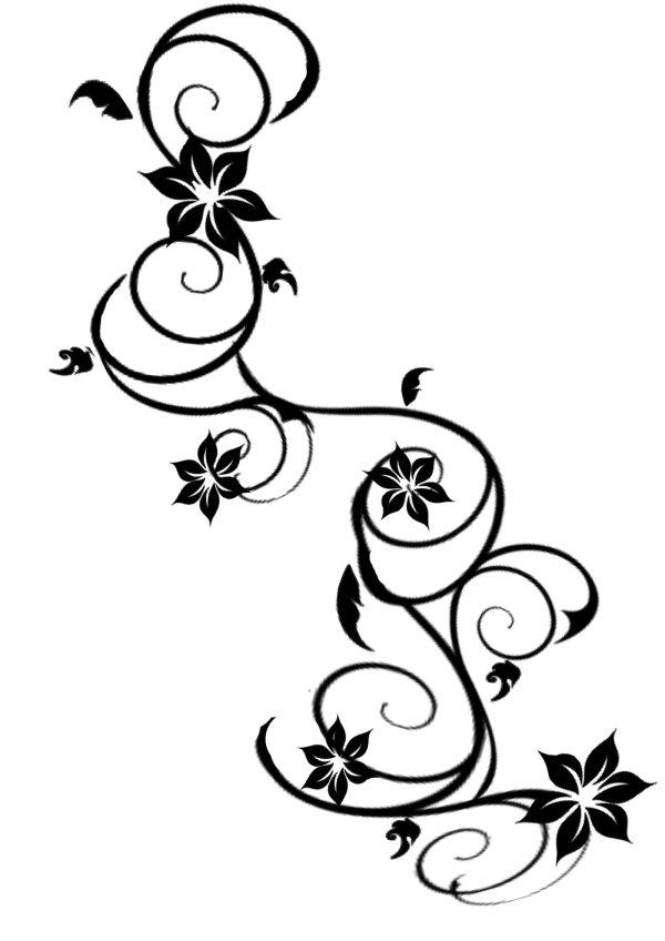 awesome vine tattoo design