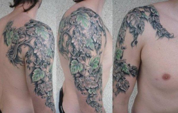 vine tattoos men