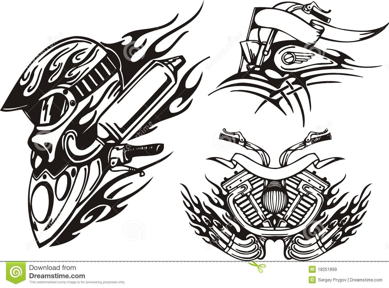 29 Tribal Motorcycle Tattoos