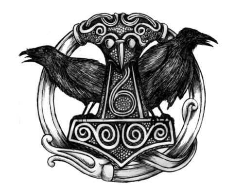 Hugin And Munin Tattoo