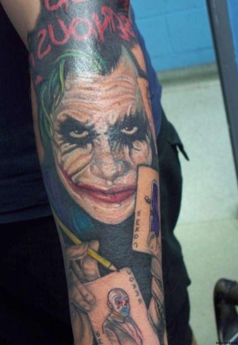 Gangster Clown Tattoo Outline