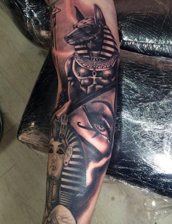 egyptian tattoos sleeve