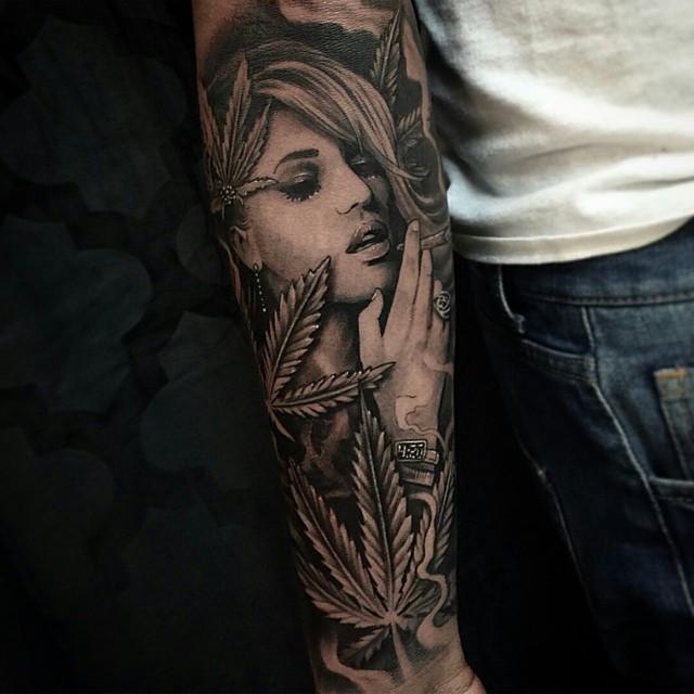 Smoking Weed Tattoo Designs