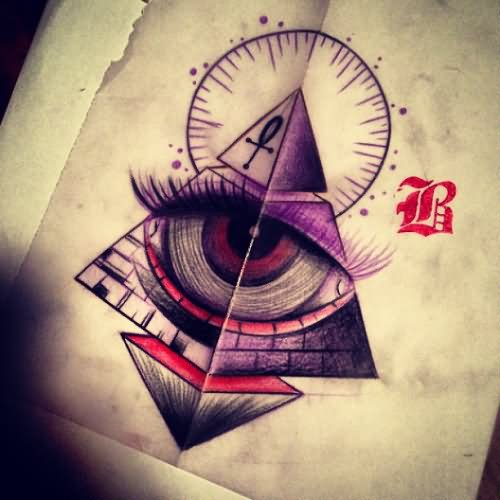 10 Latest Pyramid Tattoo Designs And Ideas