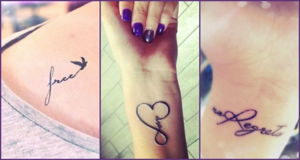 word tattoos wrists