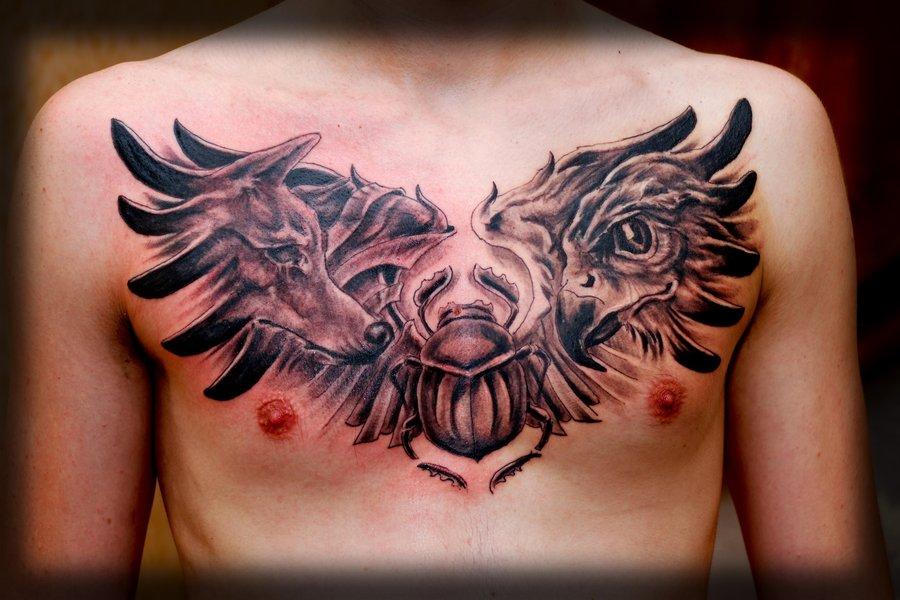 Eye Of Ra Tattoo Chest