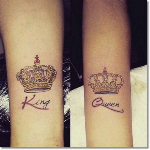 20 King Queen Crowns Tattoos Ideas And Designs