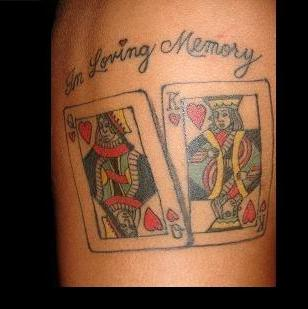 20 Card Matching Tattoos Ideas And Designs