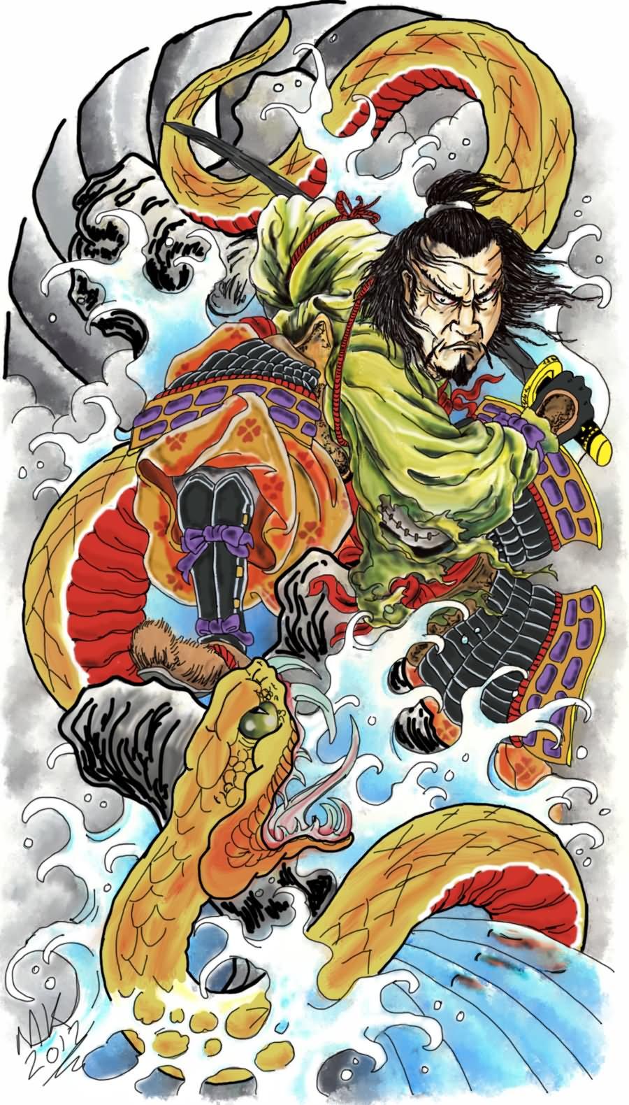 18 Samurai Tattoo Designs