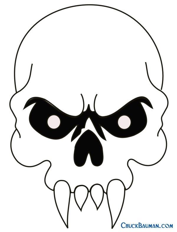 vampire skull tattoo design