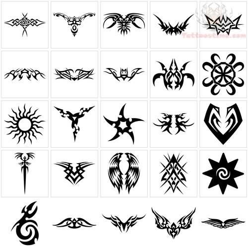 Tribal Biohazard Symbol Tattoo