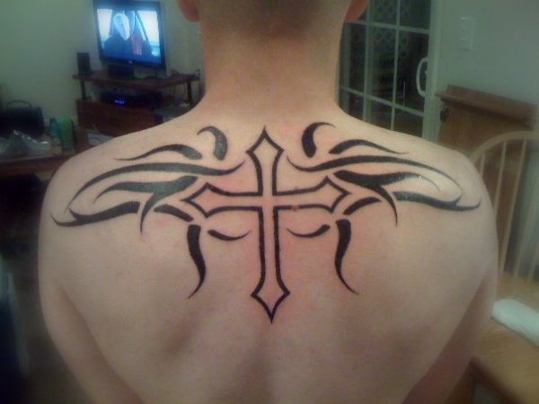 20 Center Upper Back Tribal Tattoos Ideas And Designs