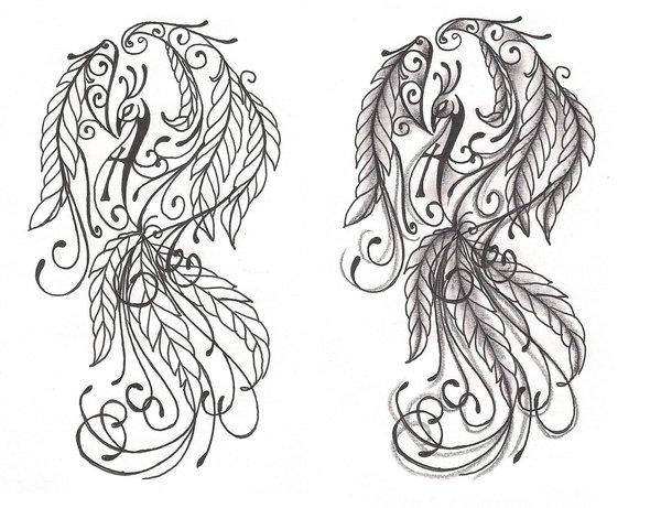 39 Girly Phoenix Tattoos