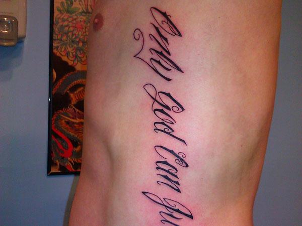 side rib tattoos men