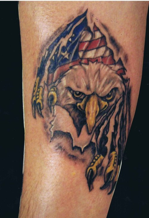 20 Banners Flag Eagle Tattoos Ideas And Designs