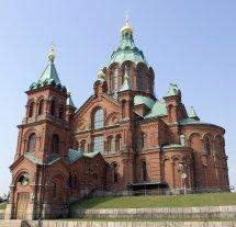Adorable Side View Of Uspenski Cathedral In Helsinki