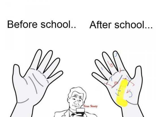 Before School And After School Funny Meme Image