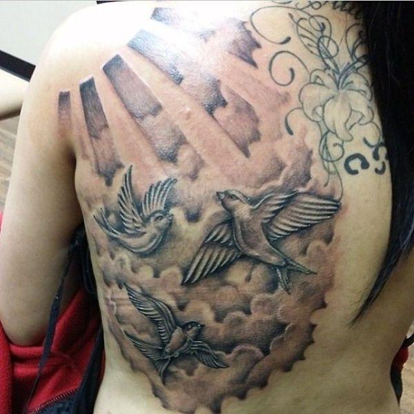 realistic cloud tattoos