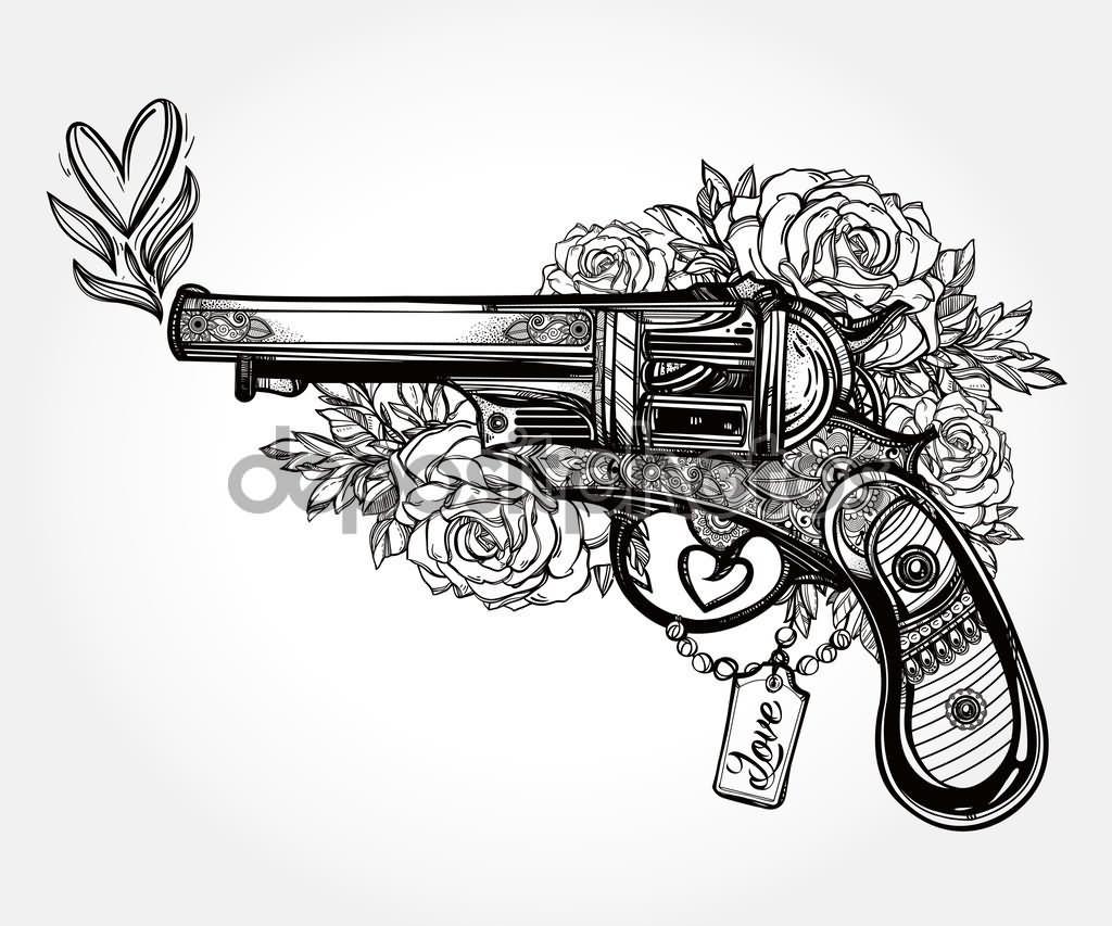 15 Latest Revolver Tattoo Designs