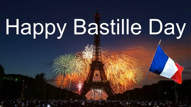 Happy Bastille Day Eiffel Tower In Background Picture