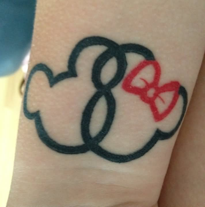Baby Minnie Mouse Tattoo With Name