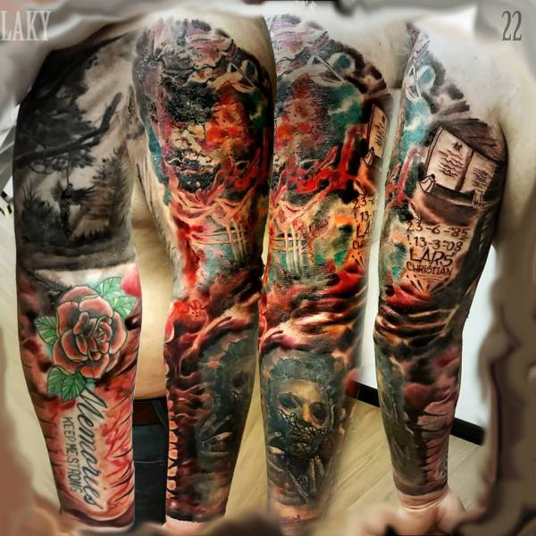 great full sleeve tattoos