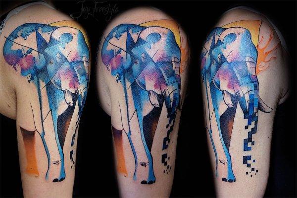 Cool Watercolor Animal Tattoos