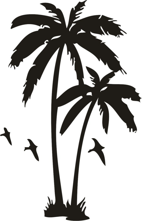Lovely Palm Tree Tattoos Design