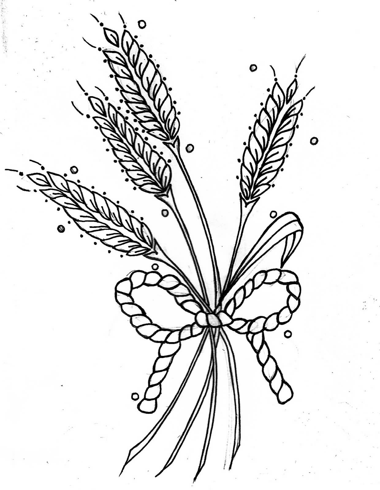 9+ Simple Wheat Tattoo Designs