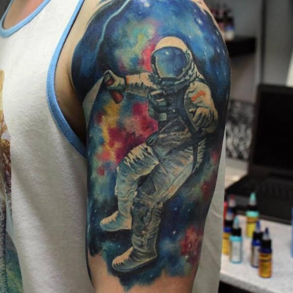 amazing space tattoo