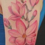 46 Wonderful Magnolia Tattoos