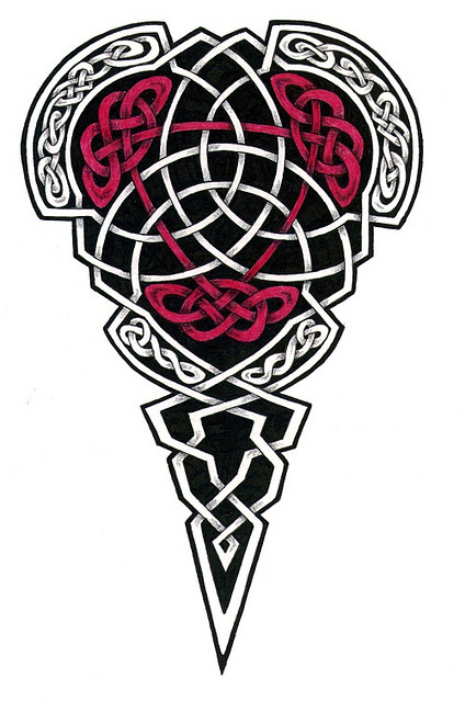 20 Red Black Celtic Cross Tattoos Ideas And Designs