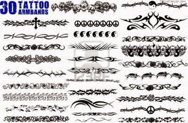 Tribal Black Armband Tattoos Design