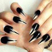 beautiful black ombre nail